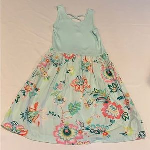 Gap dress mint flower design size S (6-7)